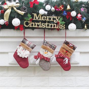 chinese home decoration custom plush christmas stockings cheap bulk christmas gifts wholesale christmas