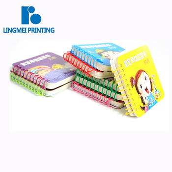 Excellent quality fancy color A4 A5 or Customized wire-O hardcover board child book printing