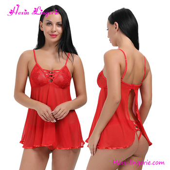 Private Label Red Lace Hot Transparent Sexy Teen Lingerie With Panty