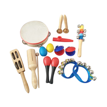 10 PCS Kinder Musik Instrumente Set Percussion Band Instrumente