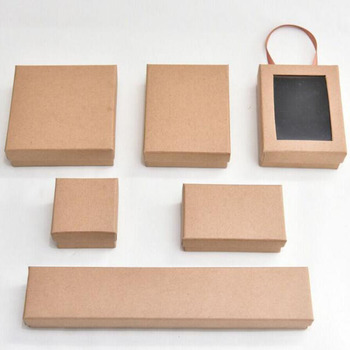 Custom Made Different Shape Cardboard Gift Boxes Jewellery Kraft Paper Boxes With Window Buy Packaging Gift Box With Window Jewellery Kraft Paper