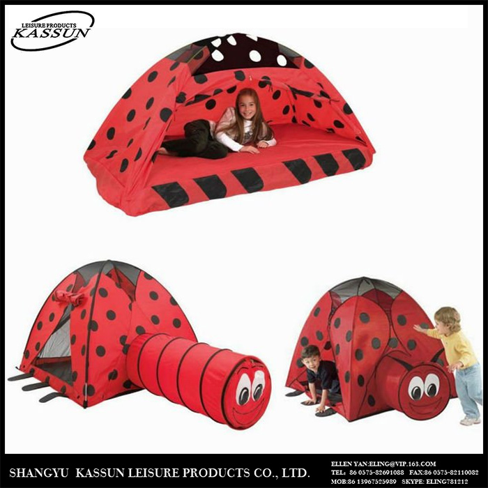 New design fashionable wholesale kids play tent with tunnel image