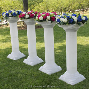 roman plastic wedding white pillars for sale