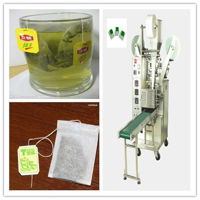SJ-18II China automatic lipton tea bag packing machine thread and tag inner and outer/round/triangle bag and pouch packing