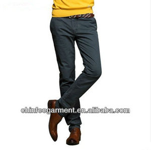 Mens Cotton Spandex Long Length Slim Trousers Made In China