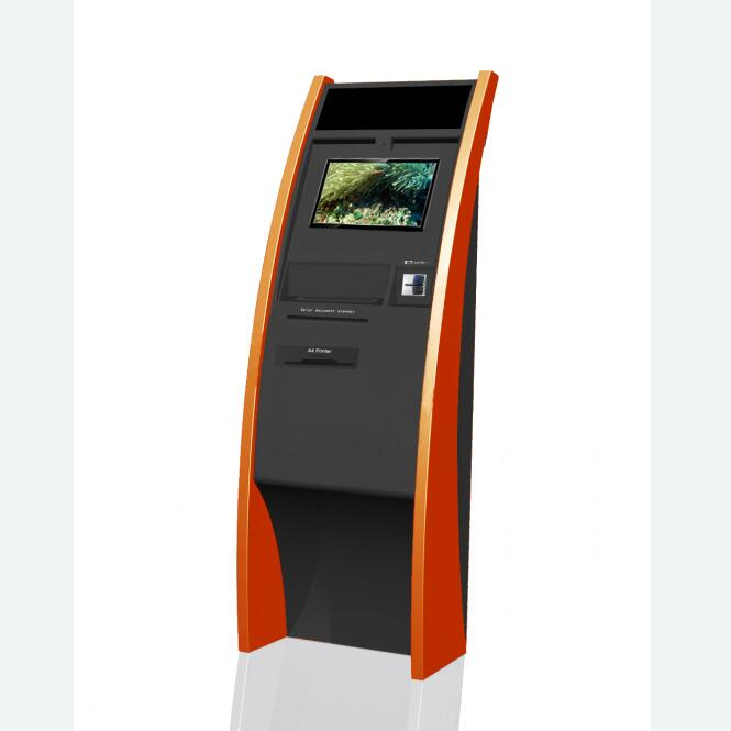 Self-service A4 paper printer kiosk for printing school report at school and university