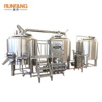 Wheat Craft Beer Machine 1500l Red Copper Plating beer brewing equipment For Brasserie