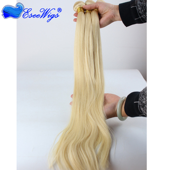 Natural looking 100% Virgin Human hair 613 blonde brazilian human hair weft straight hair weave