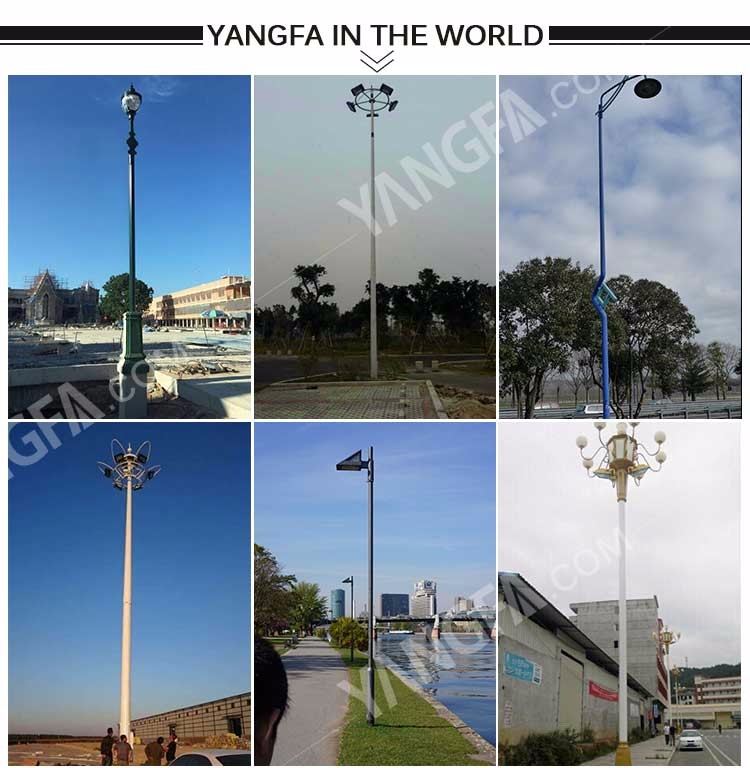 Light Tower Specifications: 10m 20m 25m 30m High Mast Lighting Poles Specification