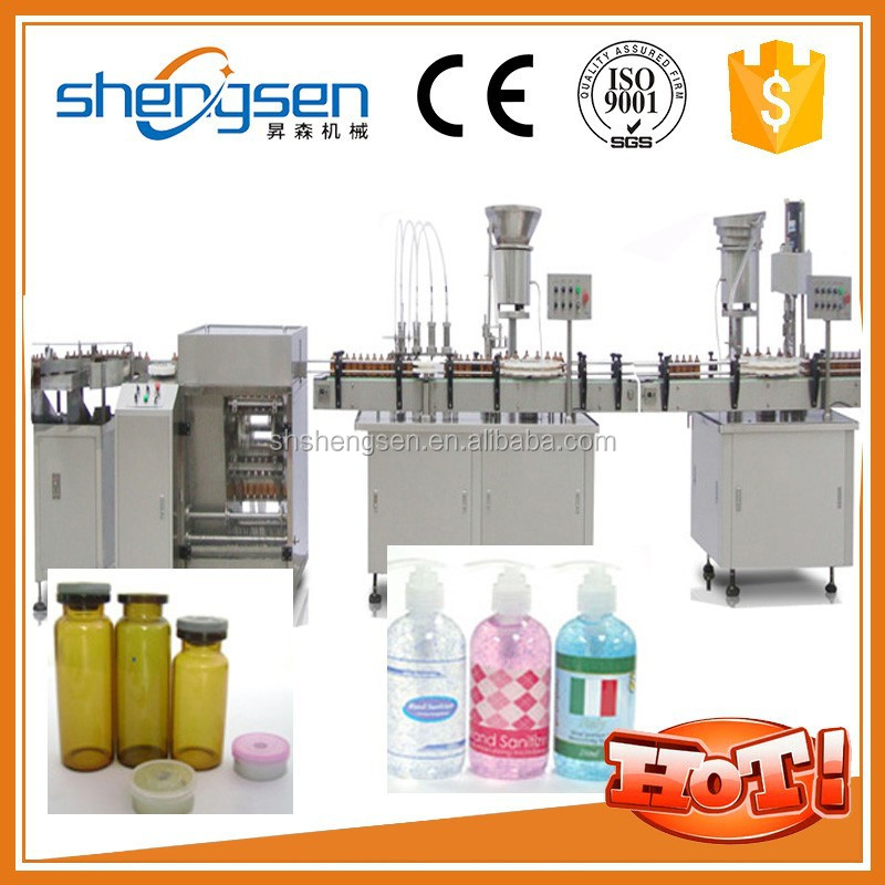 Simple production line that of filling and capping machine of medium plastic bottles