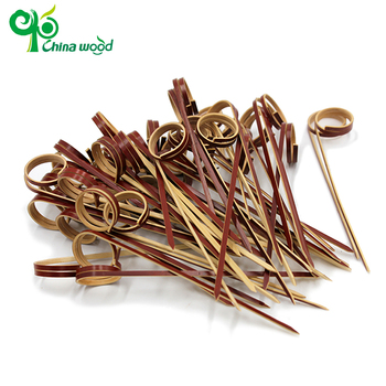 New style mini disposable bamboo kebab ring skewers