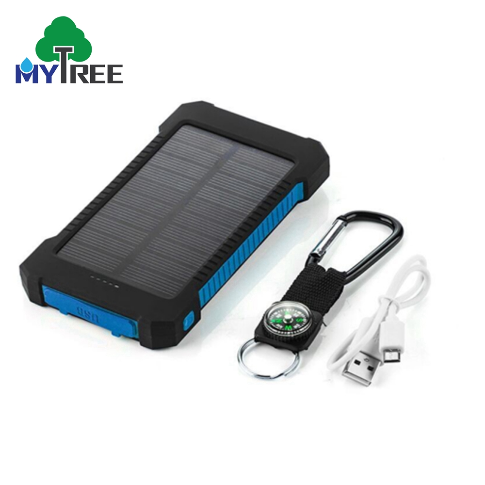 2018 Shenzhen Solar Powerbank Water proof Waterproof Rohs 20000 mah Solar Power Bank Mobile Phone Solar Charger with Compass
