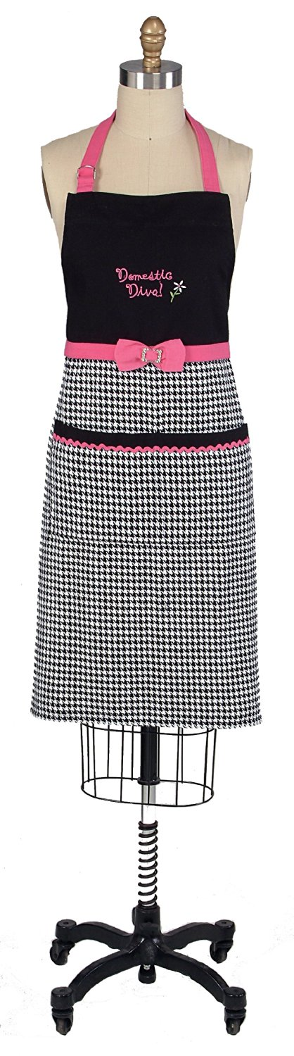 Kay Dee Designs Domestic Diva Embroidered Apron with Rhinestones
