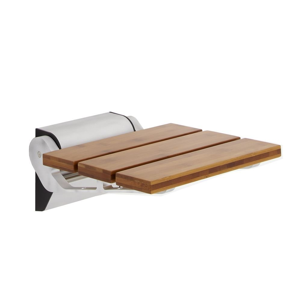 Wall Mounted Modem Bamboo Wooden Folding Shower Seat