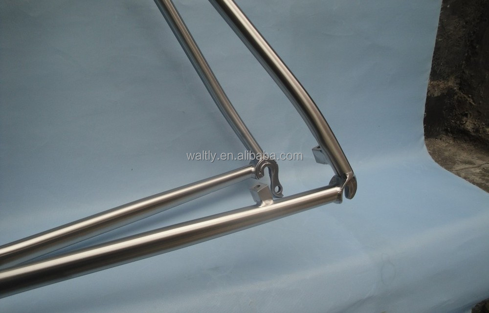 Hydroformed tubing cyclocross frame titanium 700c road bicycle frame for riding