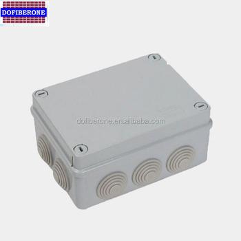 Agger 1PC Caja de Conexiones a Prueba de Polvo IP65 Caja de Conexiones con la gl/ándula del conectador 1 a 5 de Entrada de Salida