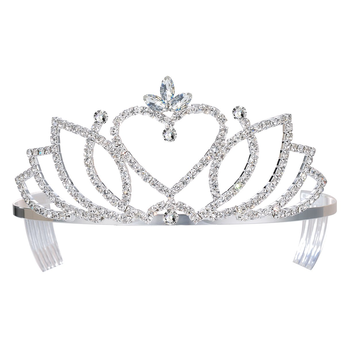 26520221e12a Get Quotations · DcZeRong Pageant Tiara Bridal Crowns Prom Tiara Wedding  Tiaras Princess Tiaras Prom Queen Crowns