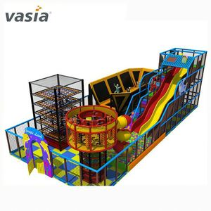 Colorful entertainment children indoor playground big slides for sale