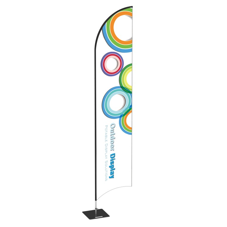 Outdoor advertising beach flag beach flag banner pole