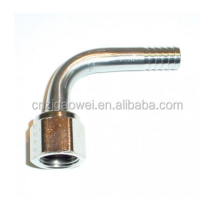 stainless steel Elbow 1/4 FFL swivel nut x 3/8 barb