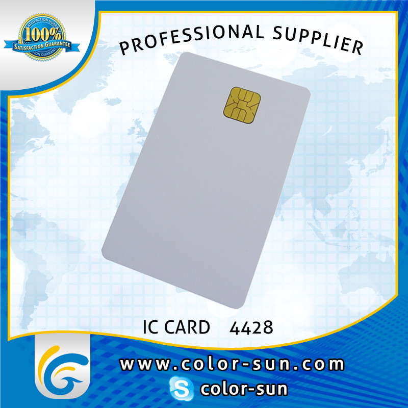 Contact IC card for bank system inkjet printable pvc card on wholesales