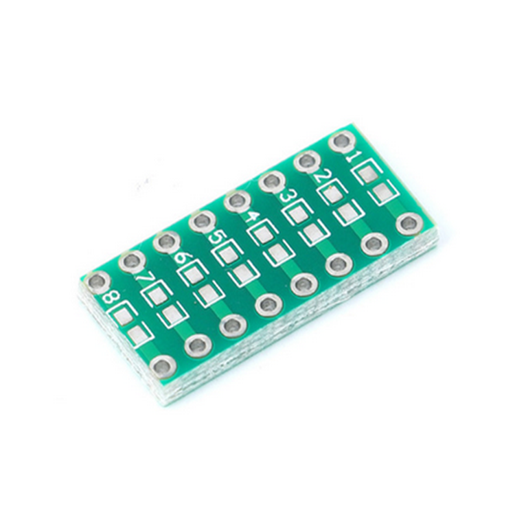 Active Components 10pcs Smt Dip Adapter Converter 0805 0603 0402 Capacitor Resistor Led Pinboard Fr4 Pcb Board 2.54mm Pitch Smd Smt Turn To Dip Skillful Manufacture