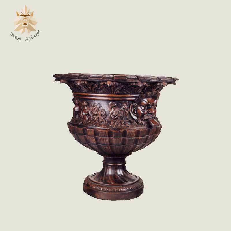 Hot sale new design bronze flower pots NT-BS401