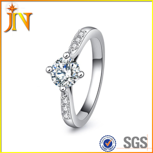 RG0002 Fashion designer Micro Inlay Round Zircon Ring Cubic zirconia Wedding Engagement Rings for women jewelry gift