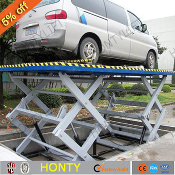 Portable Stationary Mechanical Lifting Devices Light Weight Hydraulic Type  Scissor Lift Table 1 Ton