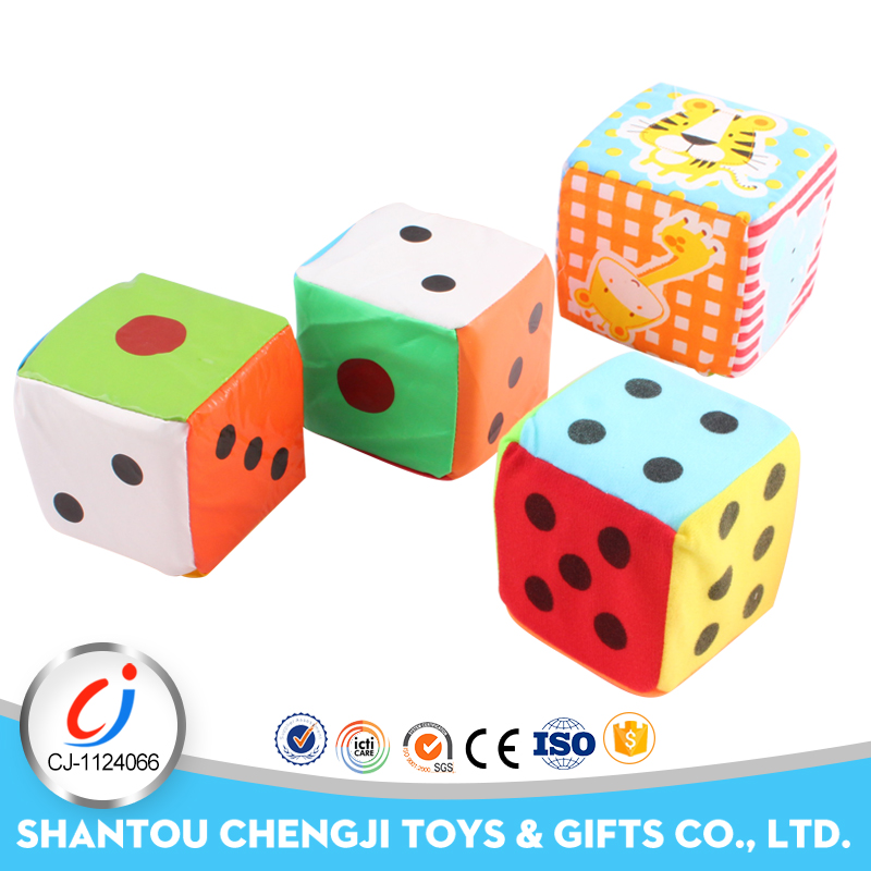 Hot sales funny game toys soft baby plush dice