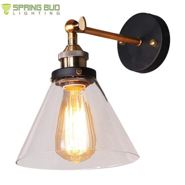 Buy cheap china black bathroom lighting products find china black 2017 hot sale vintage rustic style adjustable black iron bathroom interior lighting wall glass reading lamp aloadofball Image collections