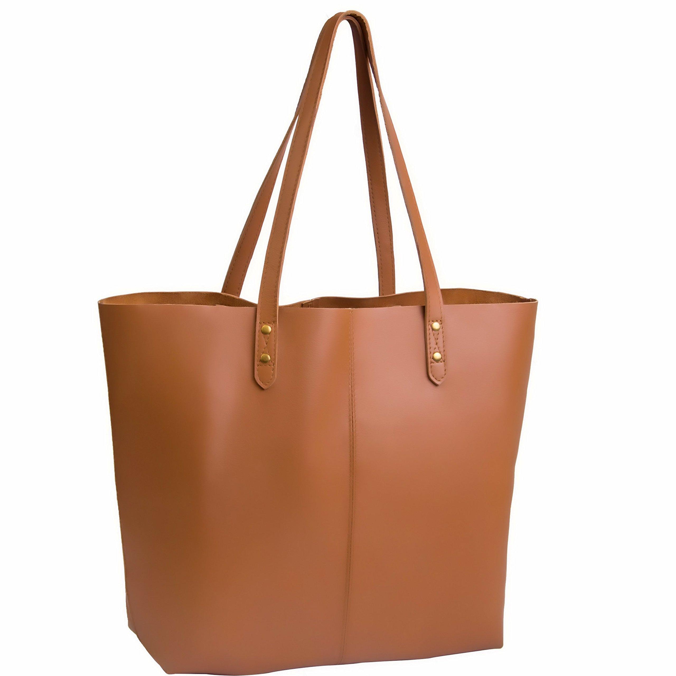 Large, Coffee NOTAG Messenger Bag Genuine Leather Briefcase Casual Busienss Laptop Tote Handbag Large Capacity Shoulder Bag Vintage Crossbody Bag Satchel Purse for Men,2 Size
