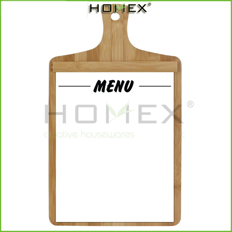 Bamboo Menu board /245 186mm total length including handle is 325mm_1/Homex-BSCI