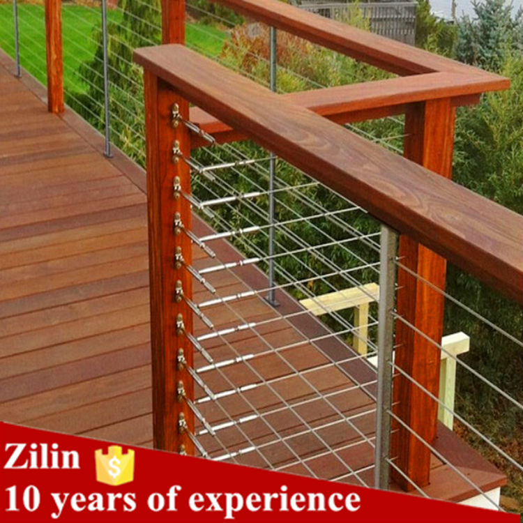 Hot sale&high quality deck wood handrail wire balustrade