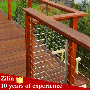 Wire Handrail | Hot Sale High Quality Deck Wood Handrail Wire Balustrade Buy Deck