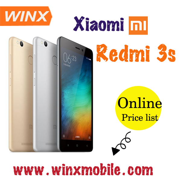 "5.0 "" Xiao mi Redmi 3s prime android ROM 3GB RAM 32GB Gold Silver Grey MIUI 7 smart phone"