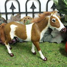 Taxidermy Replica furry aninal figurines popular simulated horse