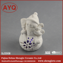 Paintable Ceramic Craft,Sublimation Blank Coated Ceramic Figurines , White Ceramic Crafts Decor