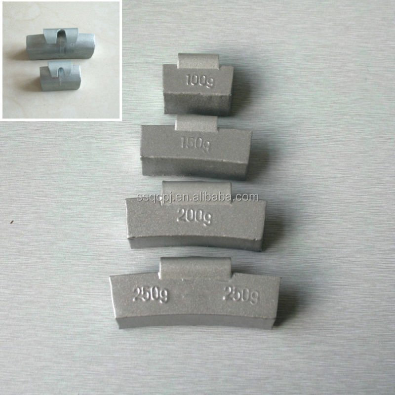 lead clip on wheel balance weight for steel rim