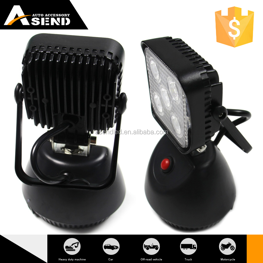 New arrival 15W led work light 3w Rechargeable Strong Magnetic 6000K for 4x4 offroad amazing looking and design