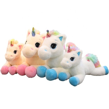 Custom High Quality 40cm Unicorn Stuffed Animal Plush Unicorn Toy Promotional Unicorn Plush Toy Cartoon Gift for Children