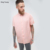 KY new Woven twill Point collar Button placket Dropped armholes Chest pocket Oversized Peached Tencel men's dress shirt In Pink