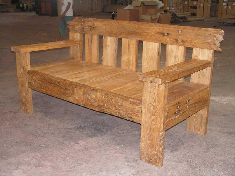 Teak Wooden Sofa - Buy Teak Wood Sofa,Reproduction Wood Sofa .
