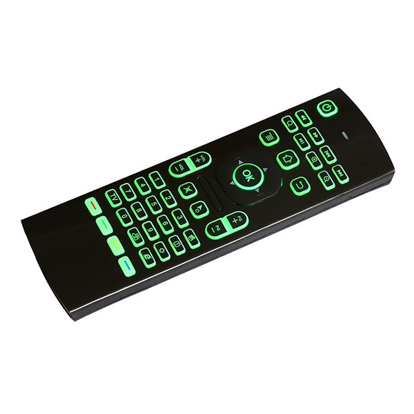New designed 2.4G wireless remote control MX3 with 6-Axis inertia sensor colorful backlit