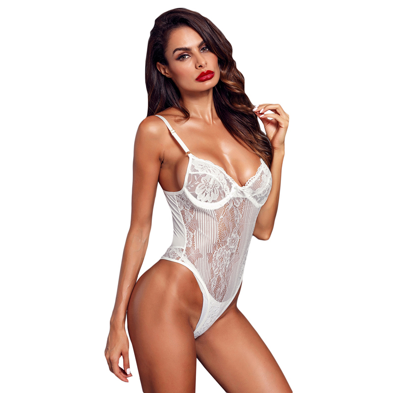 White Lace Mature Women Sexy Babydoll Lingerie