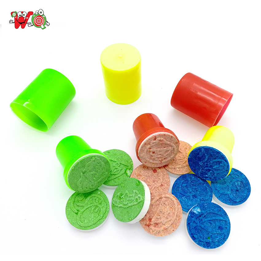 New assorted designs seal stamp tablet toy chinese candies for kids