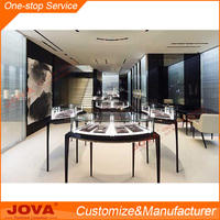 Stainless steel jewellery showcase display fixture for jewelry showcase counter
