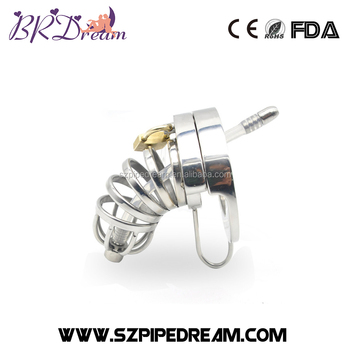 Double Lock Stainless Steel Male Chastity Device Urethral Catheter  Brd-sm386 - Buy Penis Lock,Cock Cage,Penis Lock Cock Ring Product on  Alibaba com