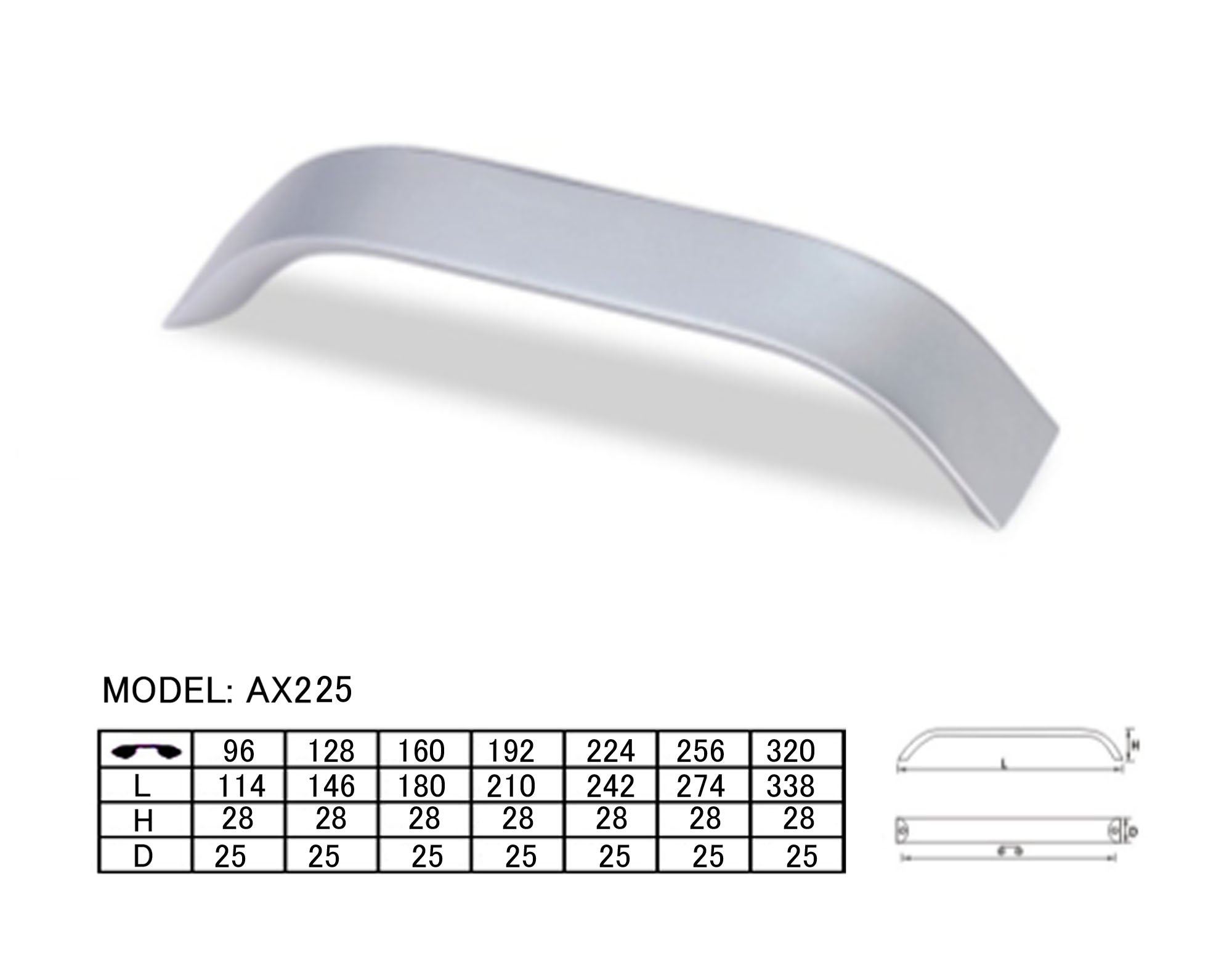 Furniture handle,Aluminium handle