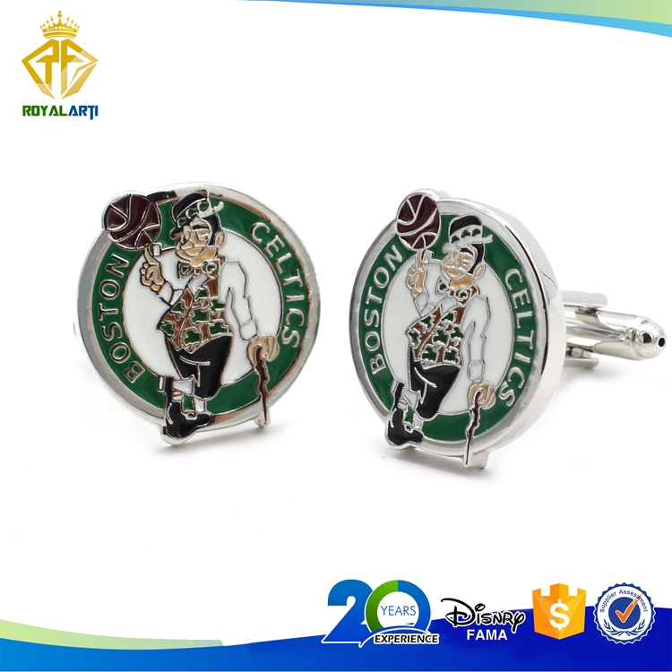 Manufacturer Basketball Team Logo Soft Enamel Cufflinks